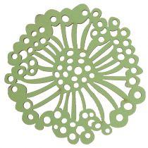 Träblomma grön / vit 5cm 36p