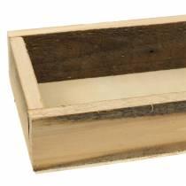 Naturligt träbricka 37,5 cm x 14,5 cm H6,3 cm