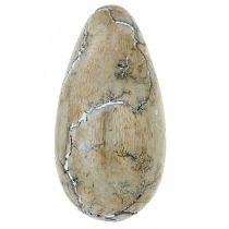 Påskägg mangoträ naturlig vit tvättad påsk dekoration trä H16cm