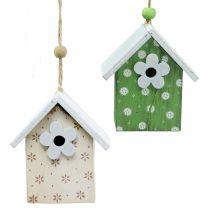 Dekorativt fågelhus att hänga 8cm 6st