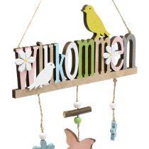 """Dekorativ hängare """"Välkommen"""" våren 22cm H43cm 2st"""