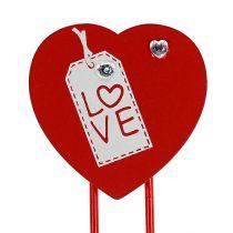 """Träklämmor hjärta """"Love"""" dekorativt hjärta Alla hjärtans gåva 2st"""