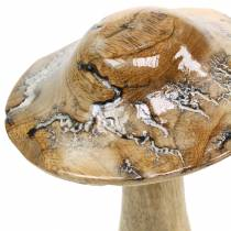 Träsvampglasade naturliga / vita H20cm