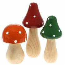 Dekorativ flugsopp orange, grön, röd 10/12 / 14,8 cm