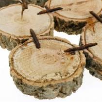 Dekorativ dalbana, träskivor, naturliga 22 × 22cm