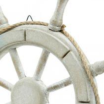 Ratt av trä, nautisk dekor, maritim Ø34,5cm