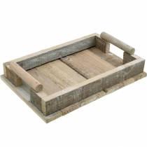 Träbricka, bordsdekoration, bricka för dekoration, trädekoration 31cm