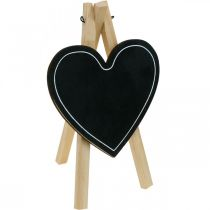 Träskiva, bröllopsdekoration, krita hjärta, dekoration Alla hjärtans dag, dekorationsbräda 6st