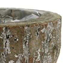 Växtkruka gjord av trävitvätt Ø20cm H10cm