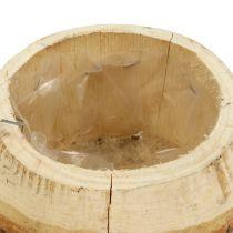 Träkruka för att plantera naturen Ø14cm