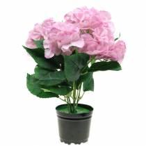 Hortensia i en kruka Konstgjord rosa 35cm