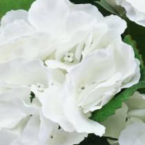 Hortensia i en blomkruka Artificiell vit 35cm