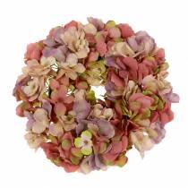 Hortensia krans gammal ros Ø30cm
