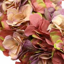 Hortensia krans gammal rosa Ø44cm