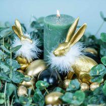 Kycklingägg Guldblåsta ägg Påskdekoration 12st
