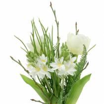 Konstgjord bukett med hyacinter och tulpaner 34cm