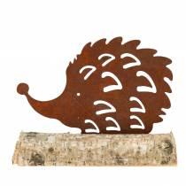 Igelkott patina på träbotten 14,5 cm x 17,5 cm