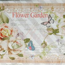 Jardiniere planter med handtag metall sommar dekoration 23 × 14 × 11 cm