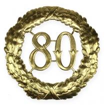 Jubileum nummer 80 i guld Ø40cm