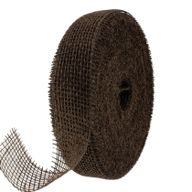 Juteband brun 5cm 40m