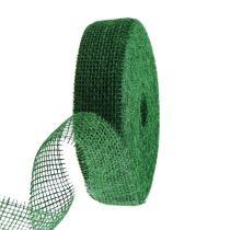 Juteband mörkgrön 5cm 40m