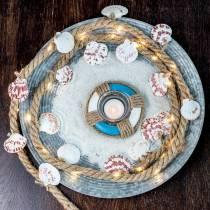 Jutkabel med skal och LED 200 cm dekorativ fiskrestaurang