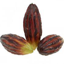 Kakaofrukt konstgjord dekorationsfönster lila-grön 17cm 3st