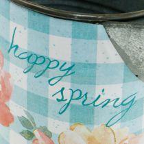 Blomma vas dekoration kanna metall trädgård trädgård dekoration planter H23cm