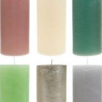 Pelarljus färgade i olika färger 85 × 200mm 2st