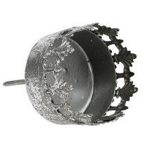 Ljusstake antik silver Ø5cm H10cm 1p