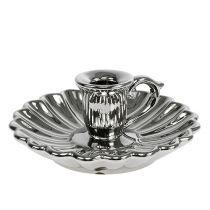 Ljushållare keramiskt silver Ø16cm