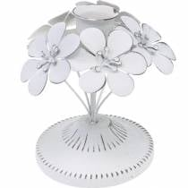 Vårdekorationer, ljusstakar av metall med blommor, bröllopsdekorationer, ljusstakar, bordsdekorationer