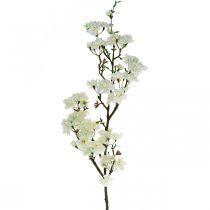 Körsbärsgren vit konstgjord vårdekorations dekorativ gren 110cm