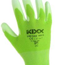 Kixx trädgårdshandskar storlek 7 ljusgrön, lime