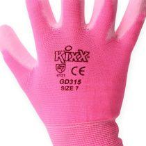 Kixx trädgårdshandskar storlek 7 rosa, rosa
