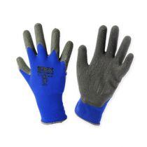 Kixx nylon trädgårdshandskar storlek 8 blå, svart