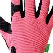 Kixx syntetiska handskar storlek 8 rosa, svart