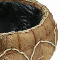 Planter kokosnöt naturlig Ø37 / 24cm, uppsättning av 2