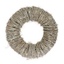 Clematis krans vit tvättad Ø30cm