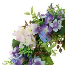 Krans hortensia / bär lila Ø30cm
