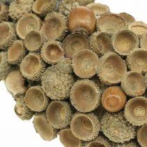 Höst dekoration krans av ekollonar naturlig krans Ø30cm