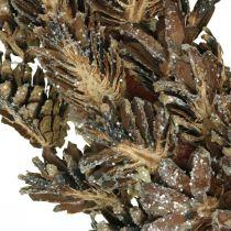 Dekorativa kranskottar Julkrans brun, glitter Ø30cm