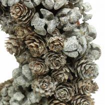 Dekorativa kranskottar lärk cypress bords krans jul Ø30cm