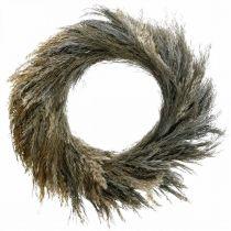 Dekorativ krans torrt gräs och korn Ø55cm torr krans