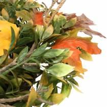 Höstens krans konstgjorda gröna, gula, orange Ø45cm