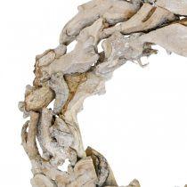 Trädkransrötter och grenar Vittvättade dekorativa krans Ø40cm H9cm