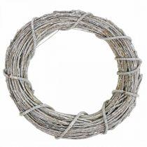 Deco krans vitkalkad naturlig krans dörr krans Shabby Chic Ø42cm
