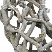 Dekorativt kransträ, kalkgrått, naturligt kransborddekoration Ø50cm