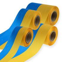 Kransband moiré blå-gul