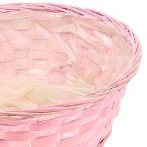 Spånkorg rund lila / vit / rosa Ø25cm 6st
